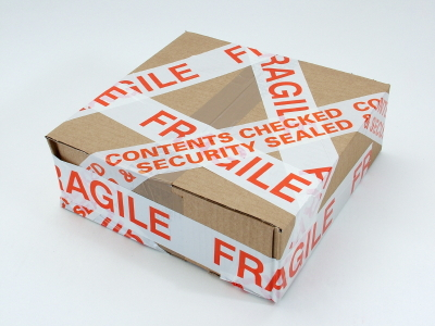 Pre-Printed Tape - Safety - Aisle - Security - Fragile - More items go to www.packagingitems.com